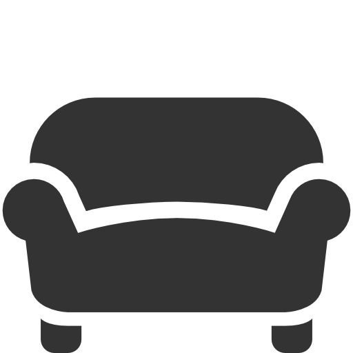 Couch vector png. Sofa black icon free