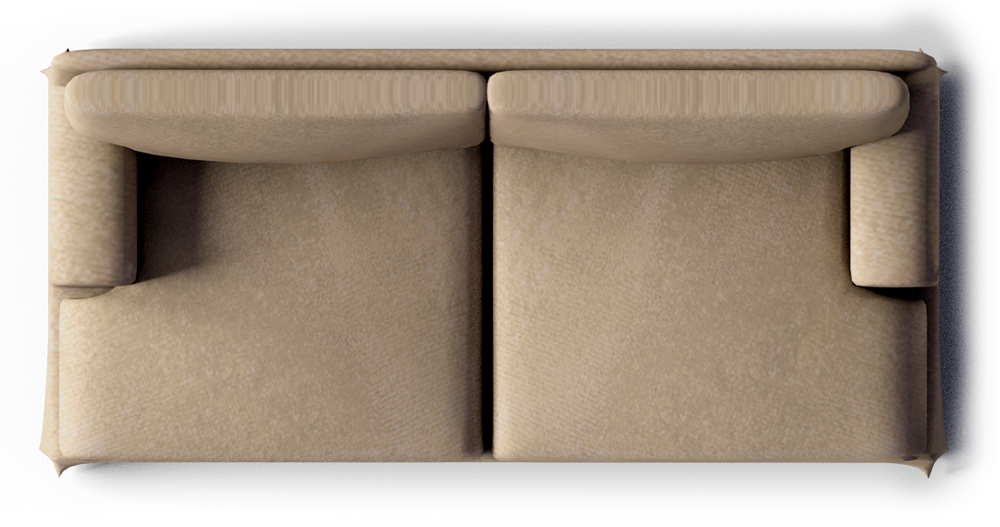 Couch top view png. Sofa from kitchen and