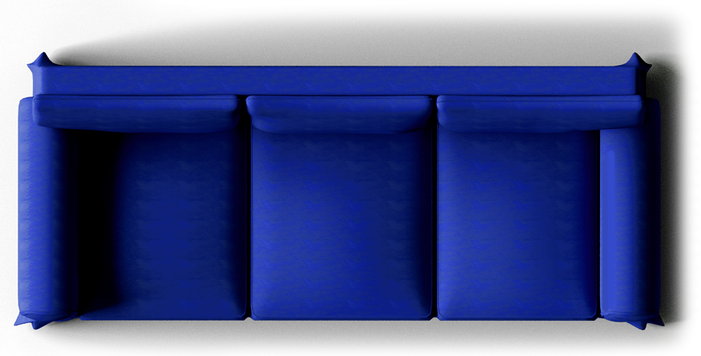 Couch top view png. Ektorp sofa dark blue