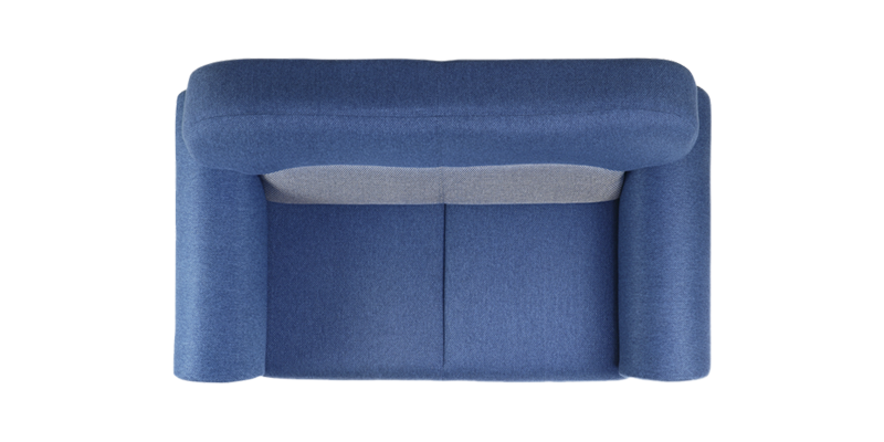 Couch top view png. Mellow two seater sofa