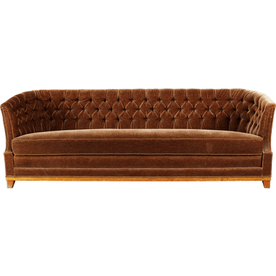 Couch transparent png. Large vintage fabric sofa