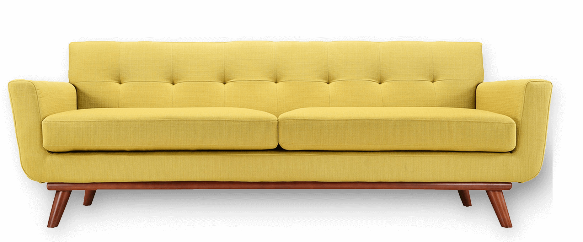 Couch transparent png. Yellow sofa mart