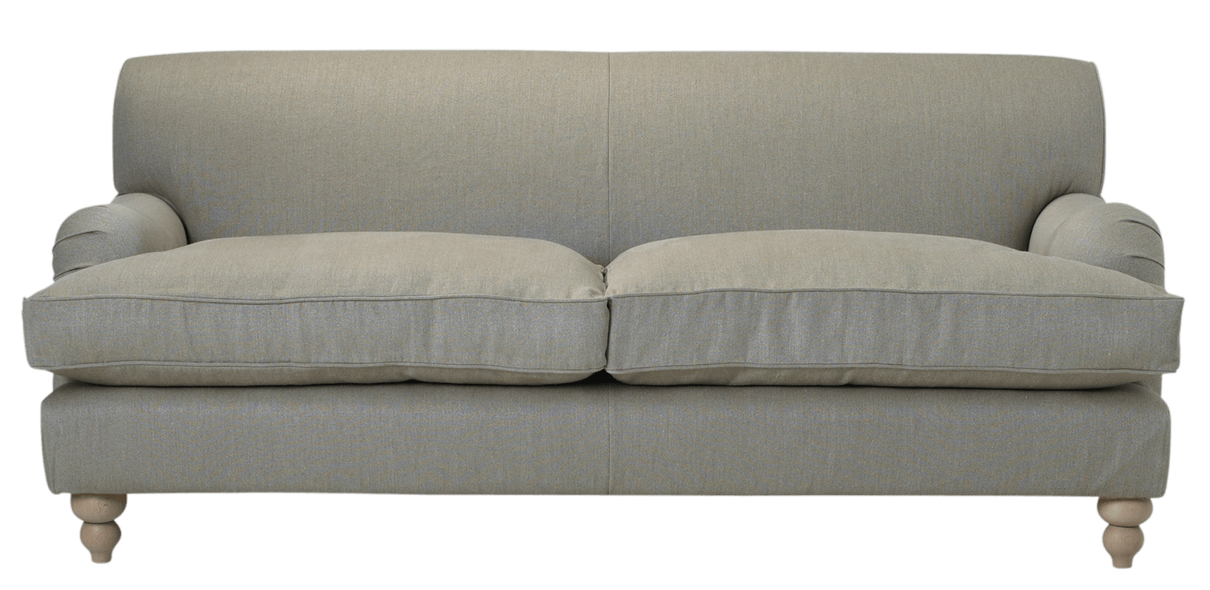 Couch transparent png. Grey fabric sofa stickpng