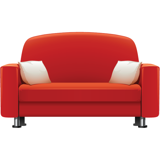 Couch vector png. Furniture icons free and