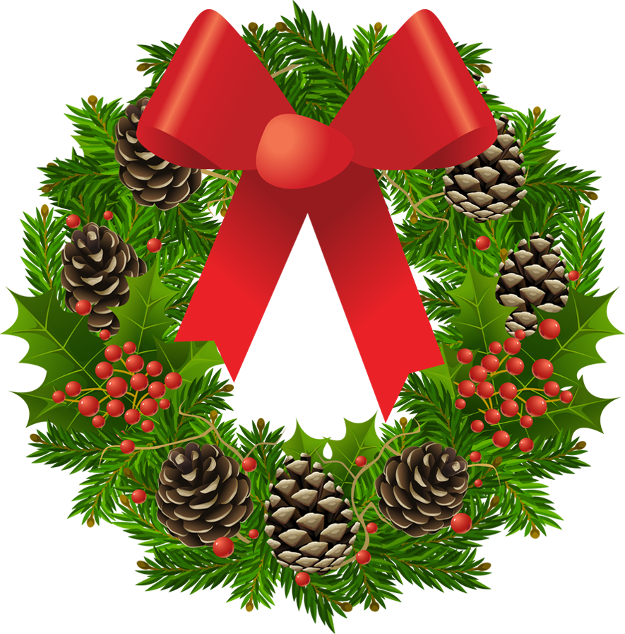 Country christmas wreath png. Transparent clipart picture gallery