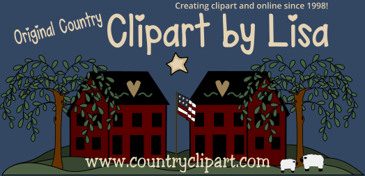 Country clipart. Cute graphics for commercial