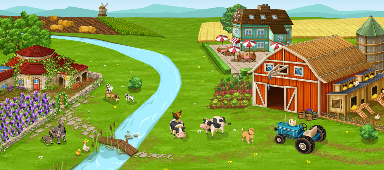 Country clipart big farm. Goodgame studios freetoplay simulation