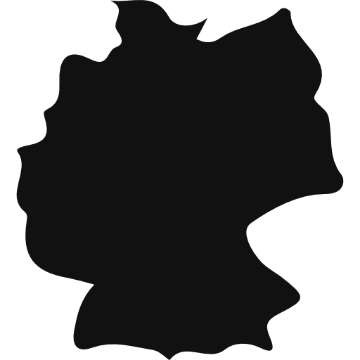 Country clipart country germany. Map black shape icons