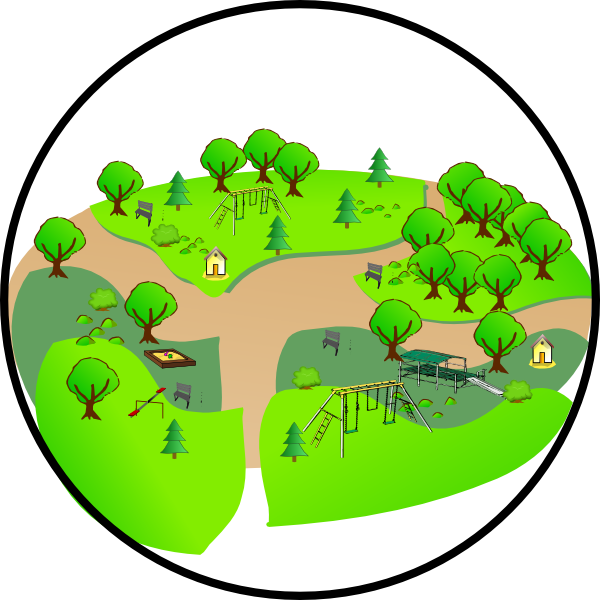 Park clipart green park. Country clip art at