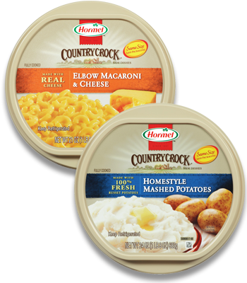Country crock png. Hormel side dish only