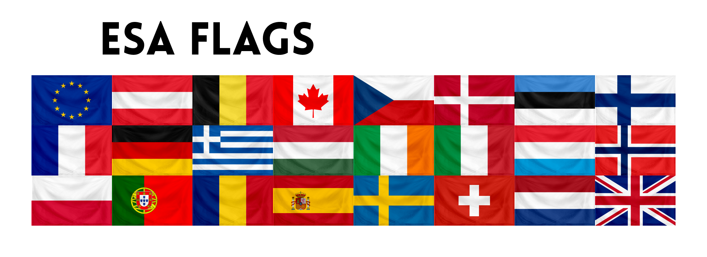 Country flags png. Esa v add