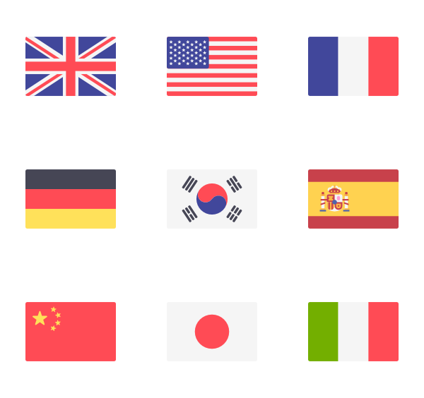 Country flags png. Flag icon packs