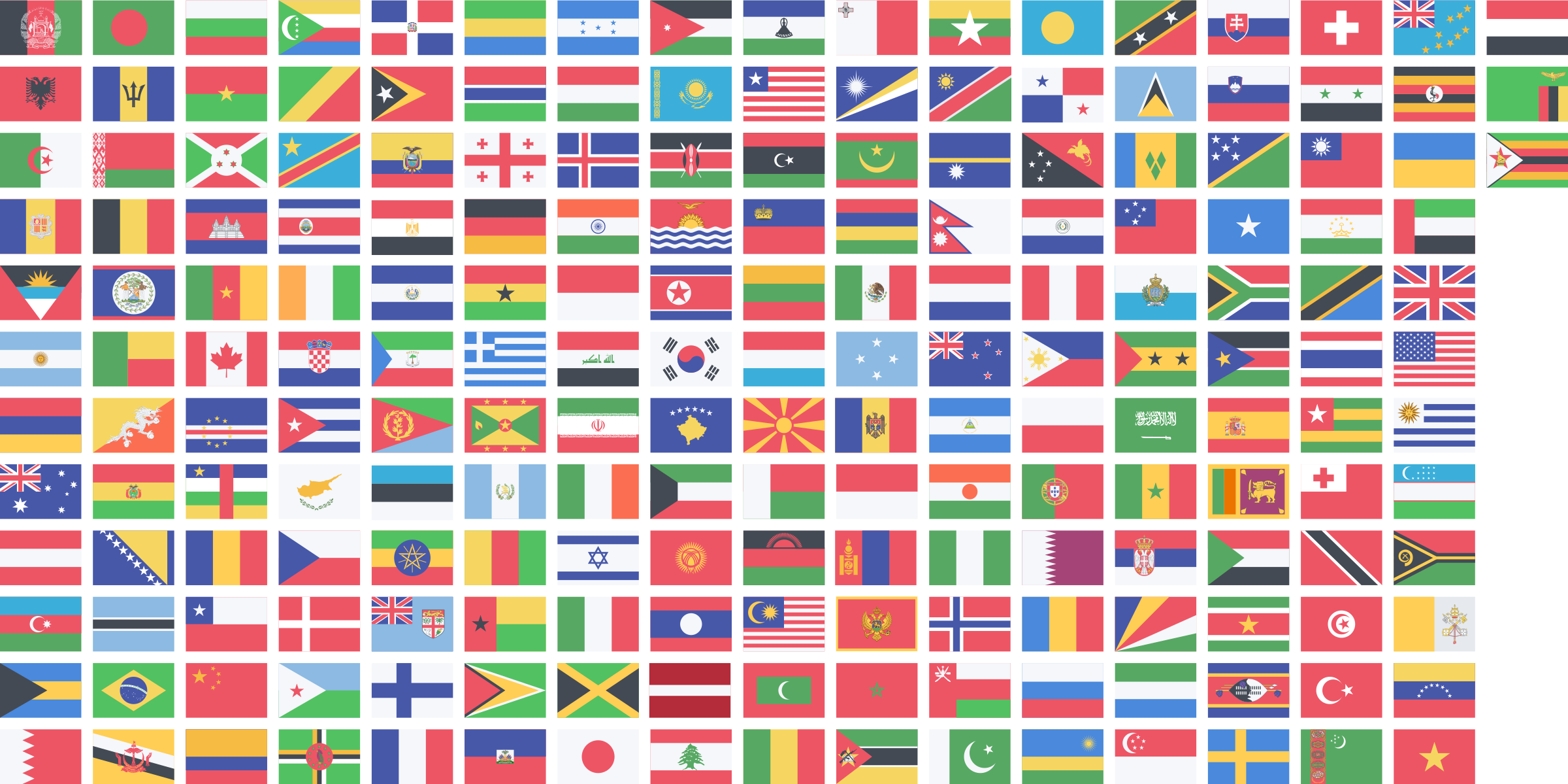 Country flags png. Countries icons free and