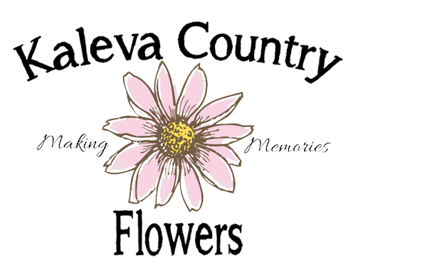 Country flower png. Kaleva florist store logo