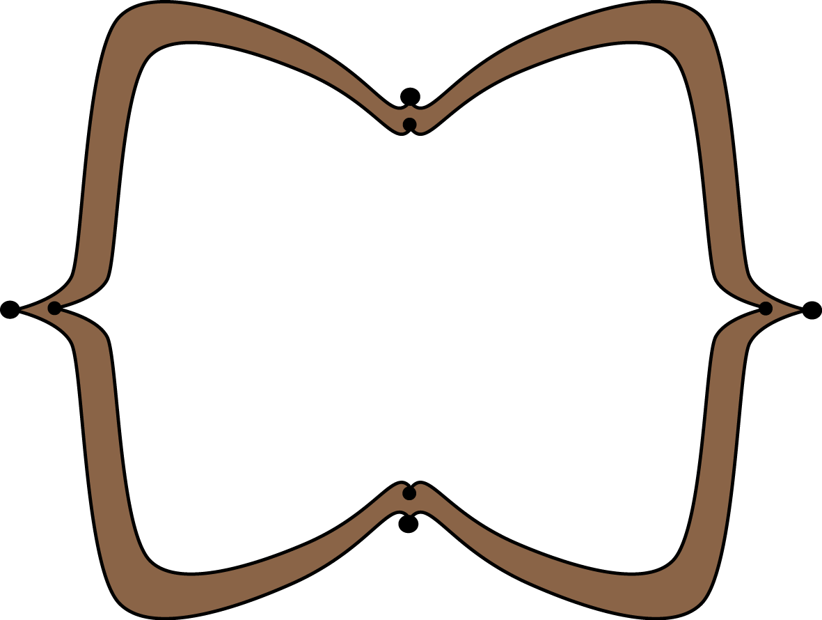 Country frame png. Brown wide pointy free