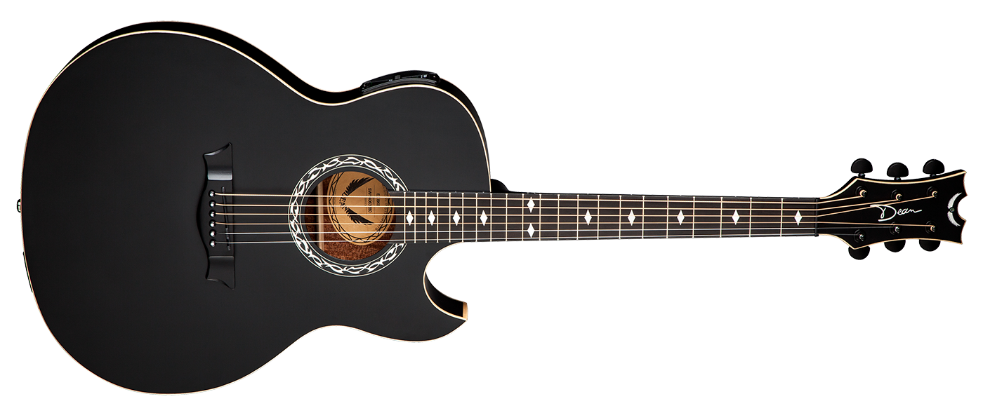 Country guitar png. Exhibition acoustic electric black