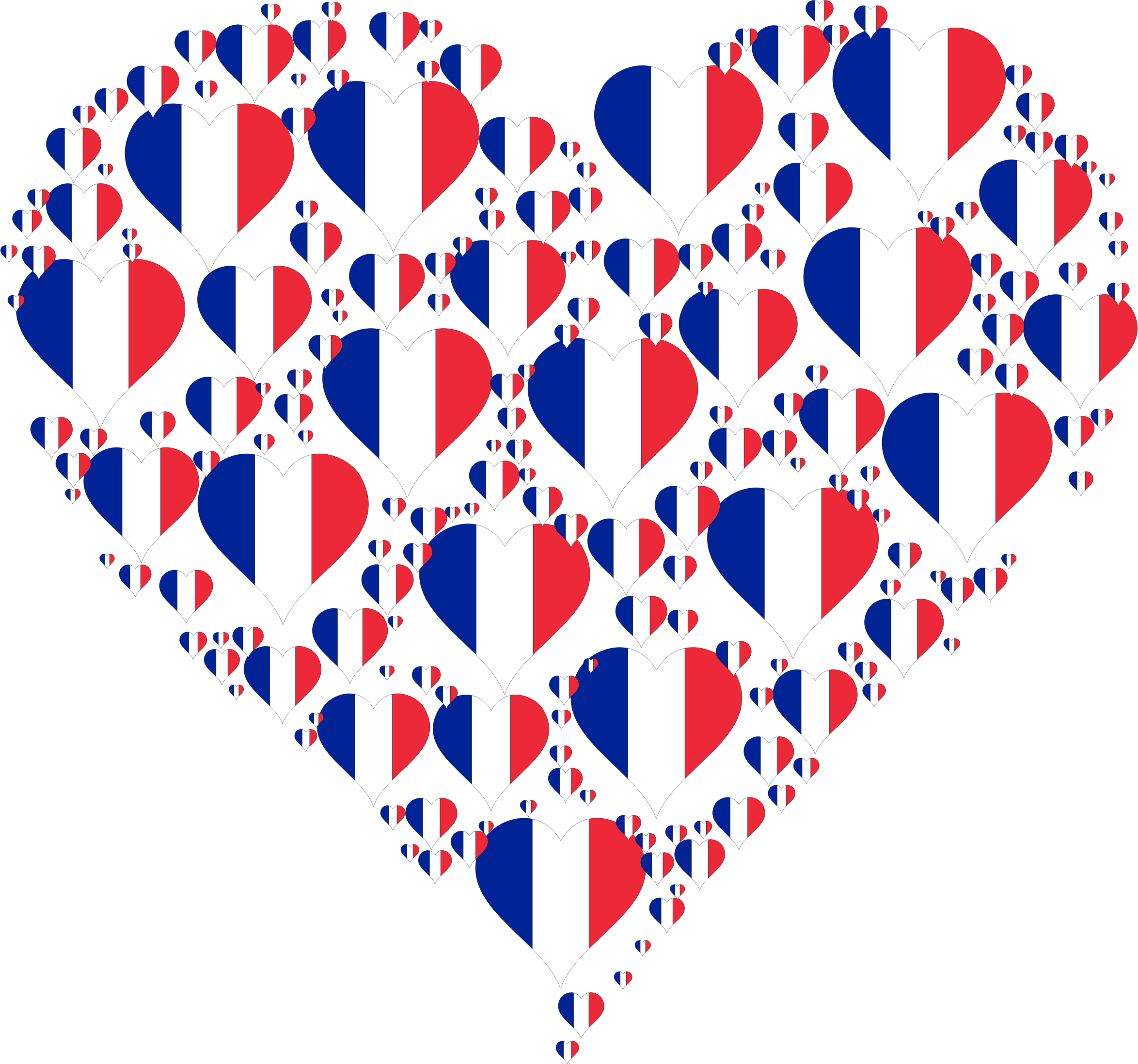 Country heart png. France fractal icons free
