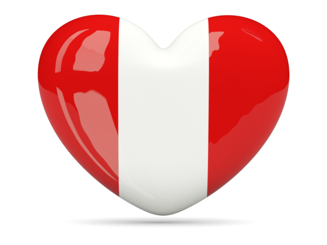 Country heart png. Icon illustration of flag