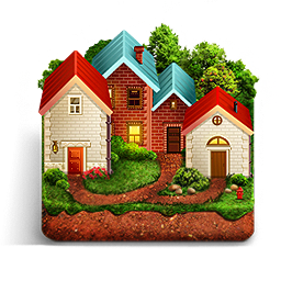 Country house png. Image royalty free stock