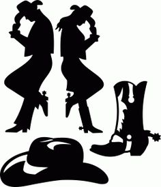 Couple clipart cowboy. Man and woman silhouette