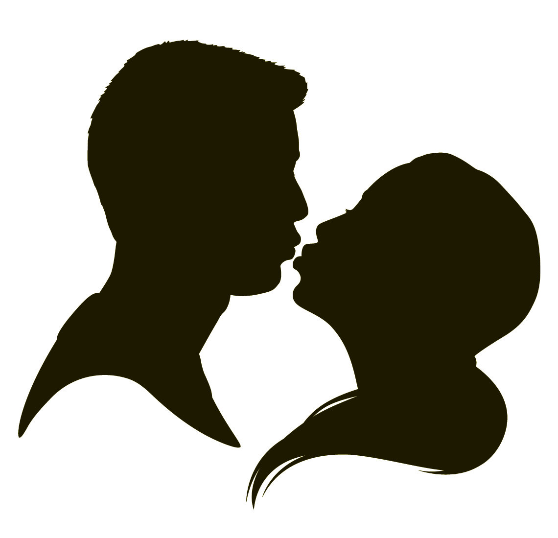 Couple clipart romance. Romantic silhouette at getdrawings