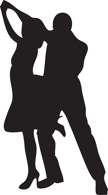 Couple dancing silhouette png. Dance silhouettes partners art