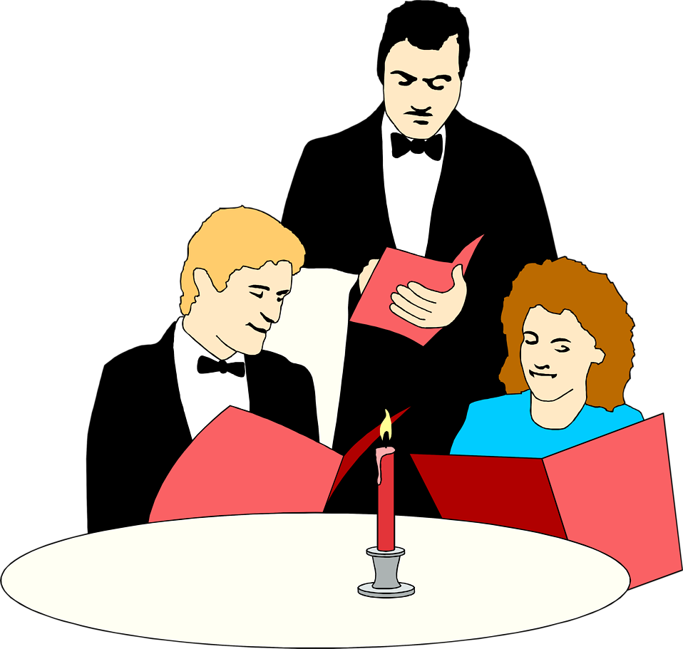 Couple dinner png. Free stock photo illustration