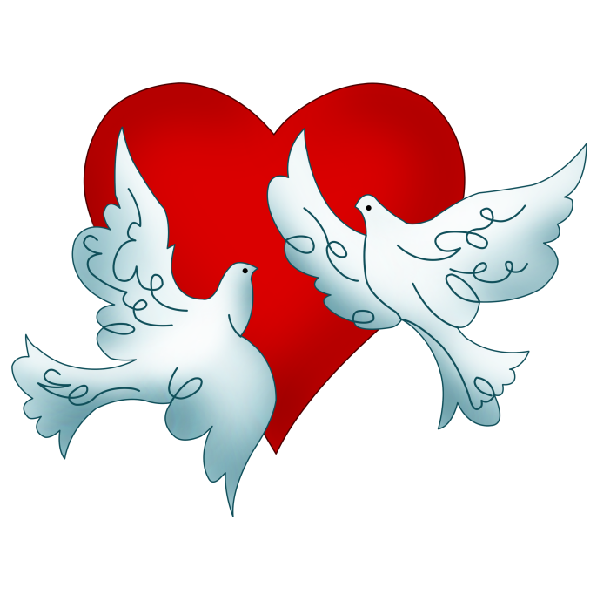 Couple doves for wedding png. Collection of dove