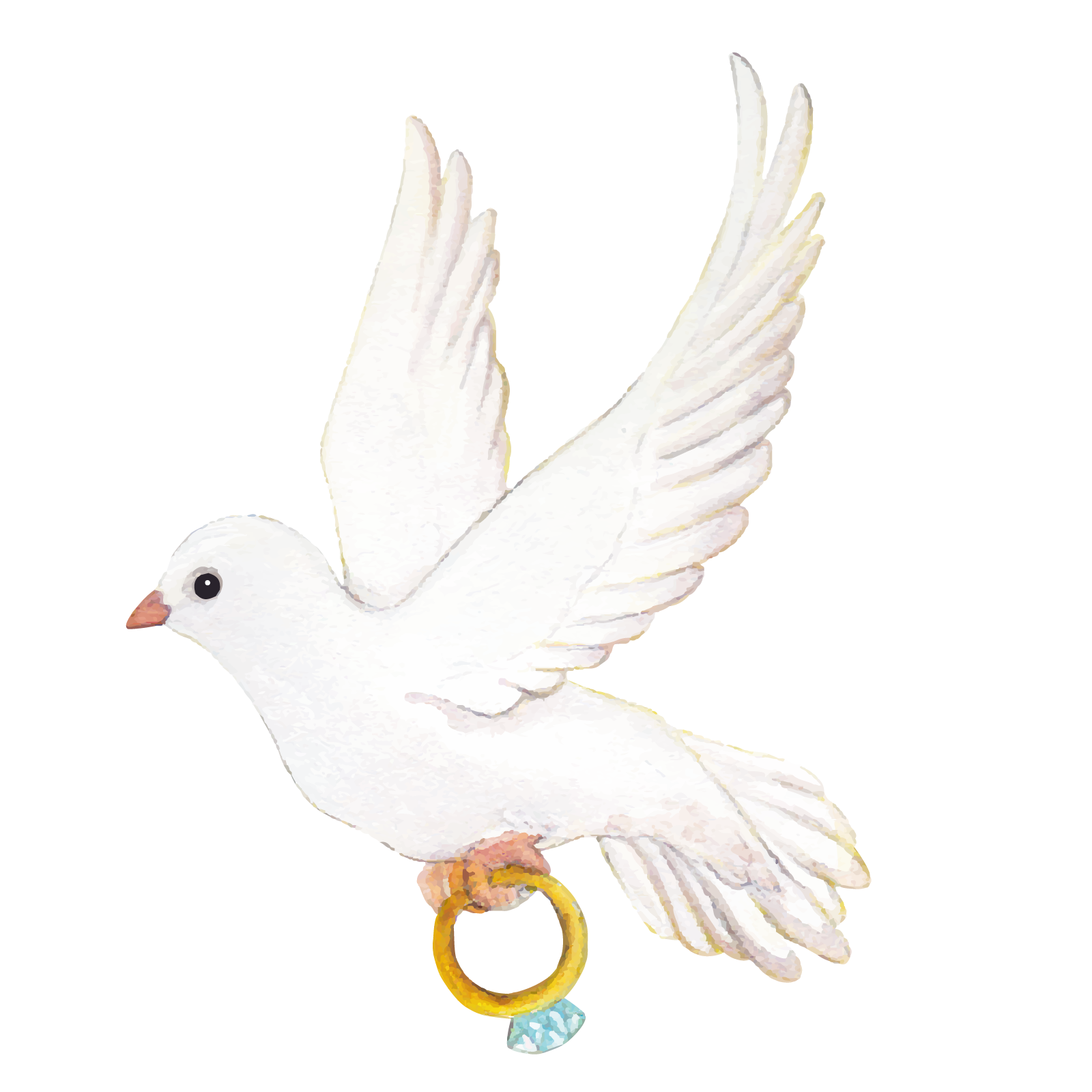 Couple doves for wedding png. Ring icon vector love