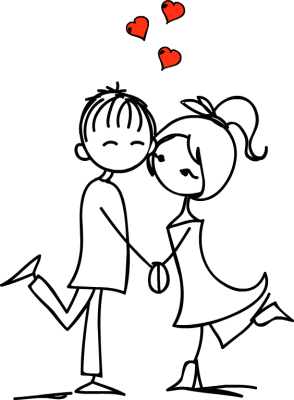 Couple drawing png. Download in love dayasriold