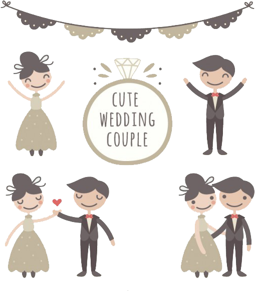 Couple drawing png. Download hd wedding marriage