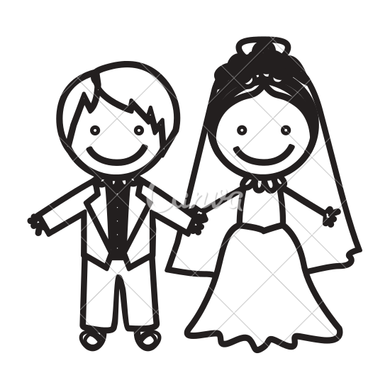 Wedding at getdrawings com. Sweet drawing couple clip free download