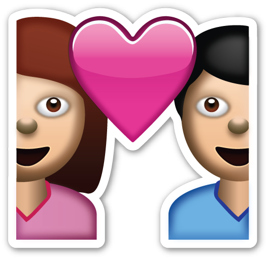 Couple emoji png. With heart emojistickers com
