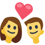 Couple emoji png. With heart on