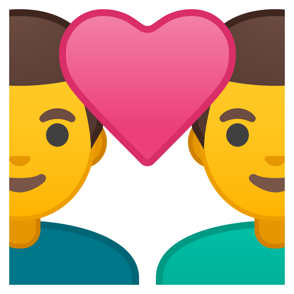 Couple emoji png. With heart man icon