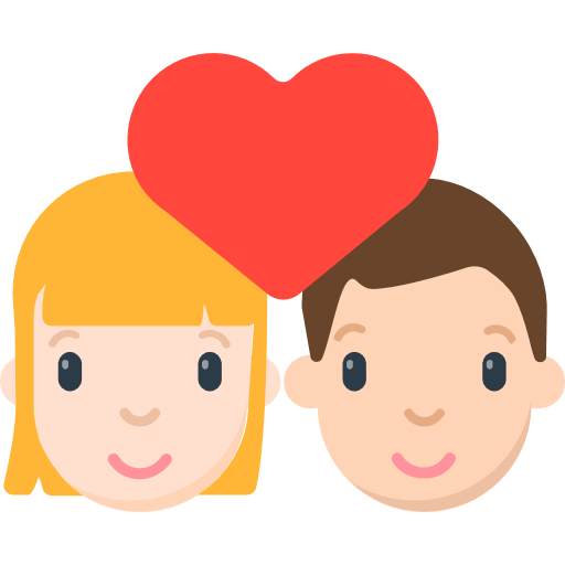 Couple emoji png. With heart for facebook
