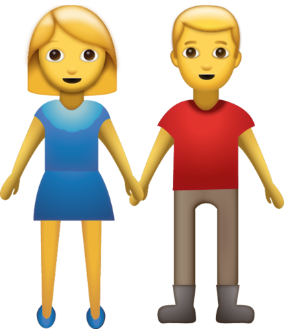 Couple emoji png. Holding hands free download