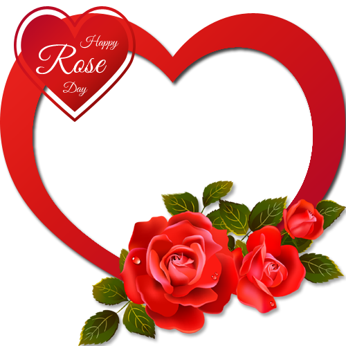 Couple heart png. Personalize happy rose day