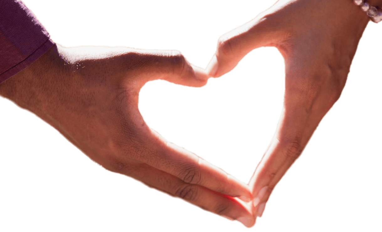 Couple holding hands png. Forming heart with transparent