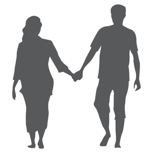 Couple holding hands png. Silhouette at getdrawings com