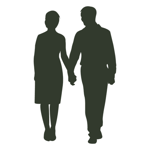 Couple holding hands silhouette png. Of walking at getdrawings