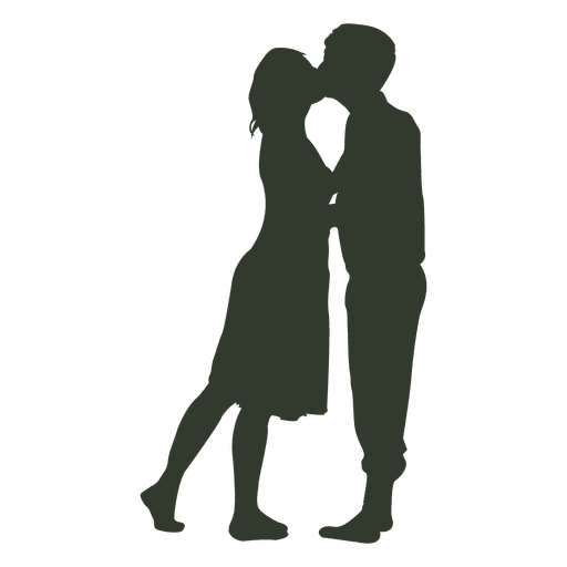 Couple kissing png. Silhouette passionate transparent svg