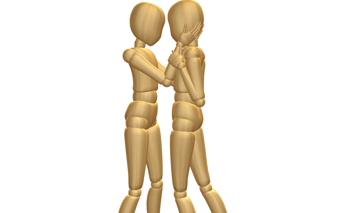 Couple posing png. Mmd pose dl by