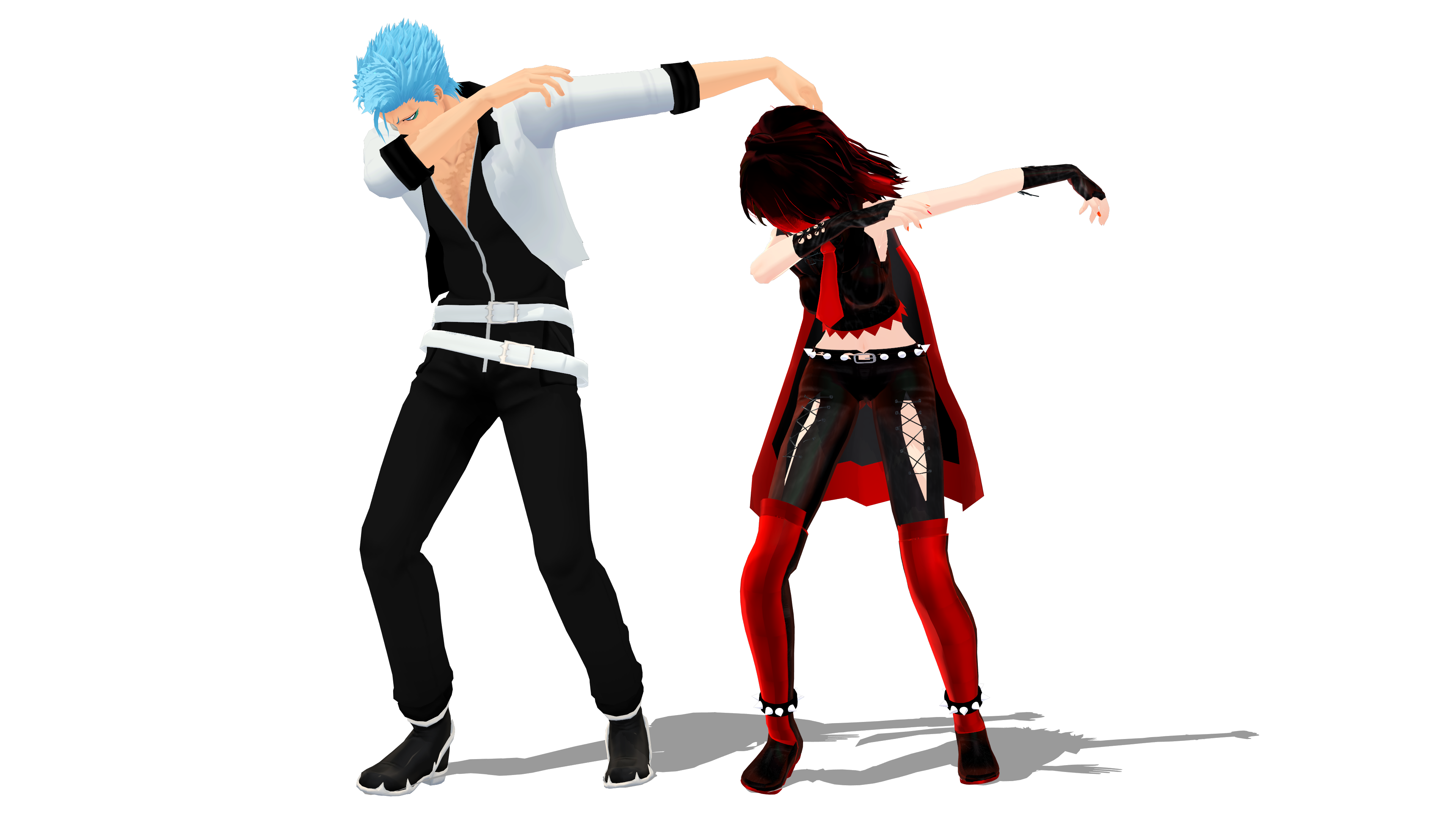 Couple posing png. Mmd dab pose dl