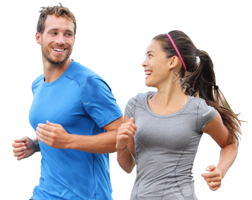 Couple running png. Coaching personal training leicestershire