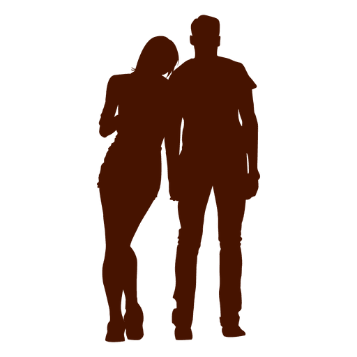 Couple silhouette holding hands png. Family kiss transparent svg