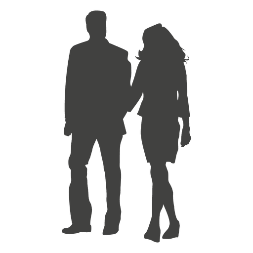 Couple silhouette holding hands png. Walking transparent svg vector