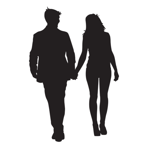 Couple silhouette holding hands png. Transparent svg vector