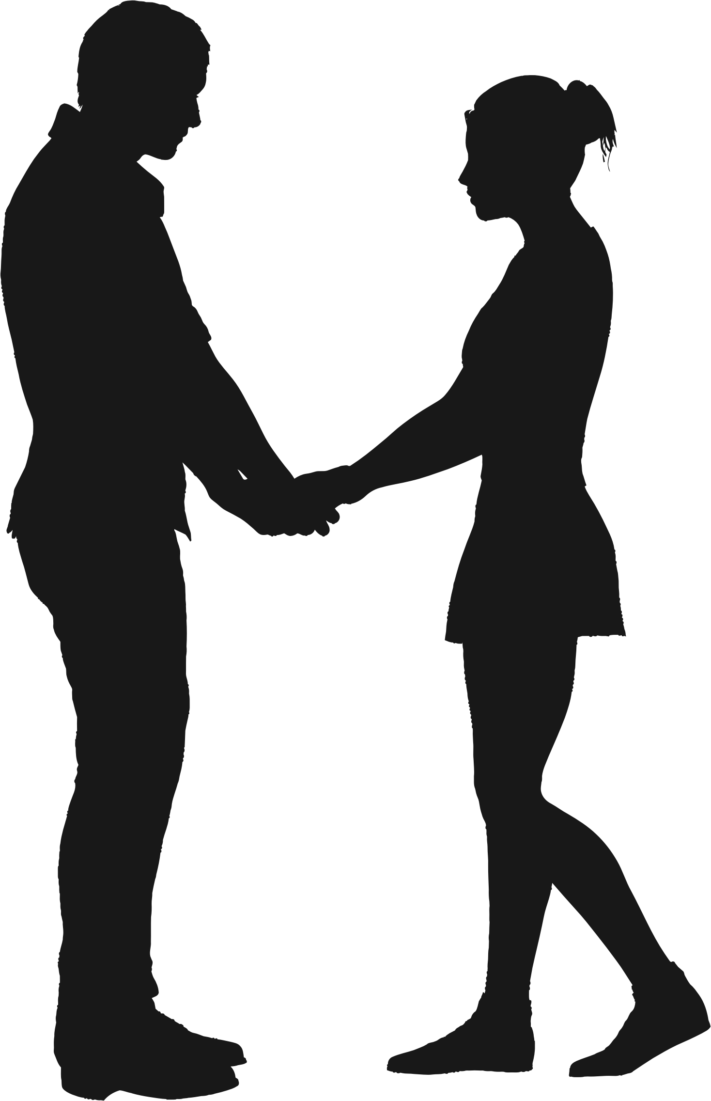 Couple silhouette holding hands png. Clipart big image