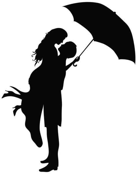 Sensual drawing cute simple couple. Romantic silhouettes png clip